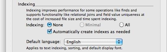 Index Settings