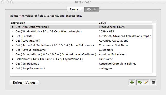 FileMaker Pro Advanced Data Viewer